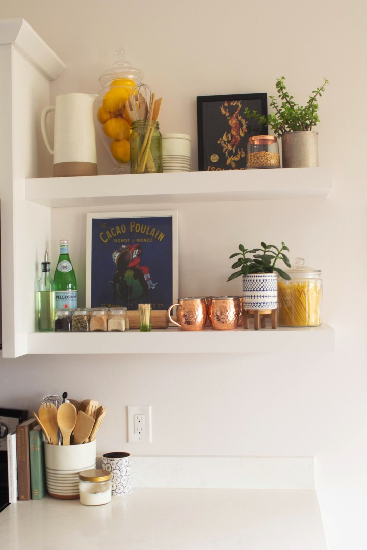 How to Style Open KitchenShelves