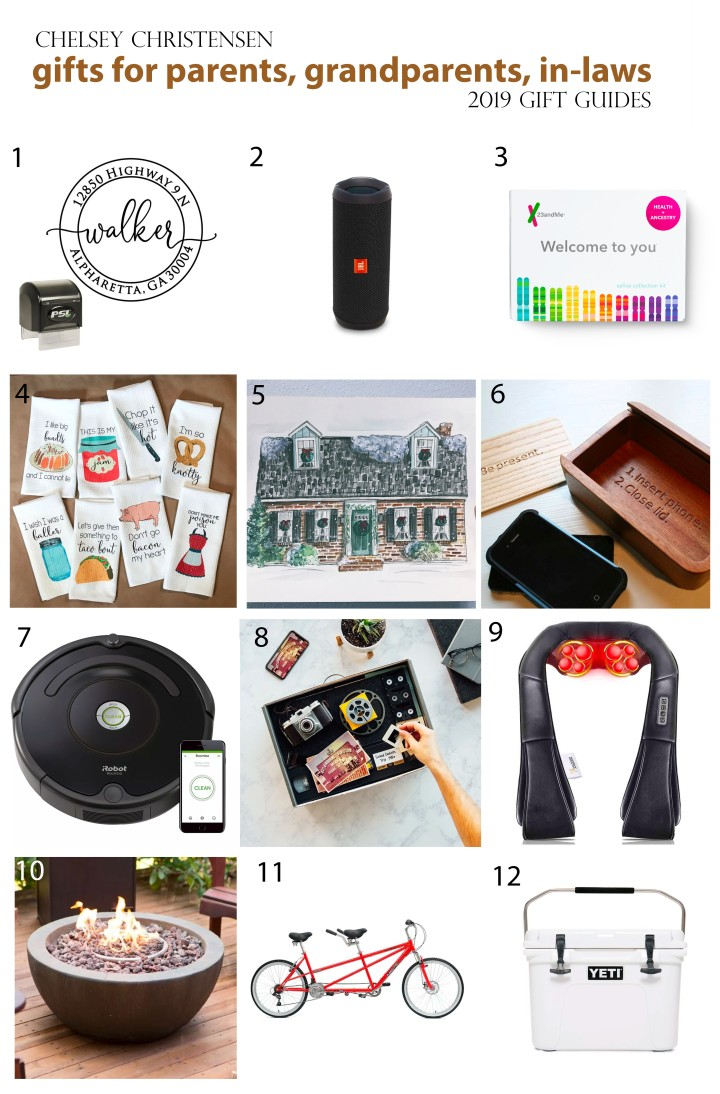2019 Gift Guide: Parents, Grandparents,In-laws